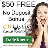 CWOption Broker – 50$ Free No Deposit Trading Bonus!