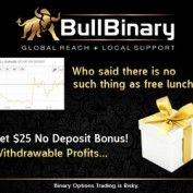 BullBinary Broker – 25$ Bonus Without Deposit, low Minimum Deposit & Deposit Bonus!