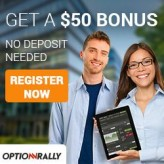 OptionRally Broker – For a limited time get a $50 bonus simply for signing up- no deposit necessary!